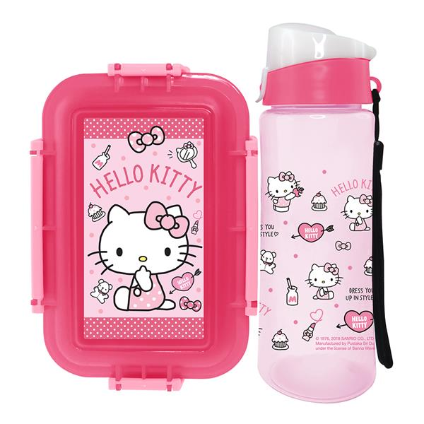 HELLO KITTY LUNCH BOX WITH WATER BOTTLE SET