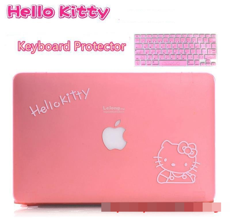 hot sale online ce98a 66de8 Hello Kitty MacBook Air Pro Case Cover Casing + Keyboard Protector