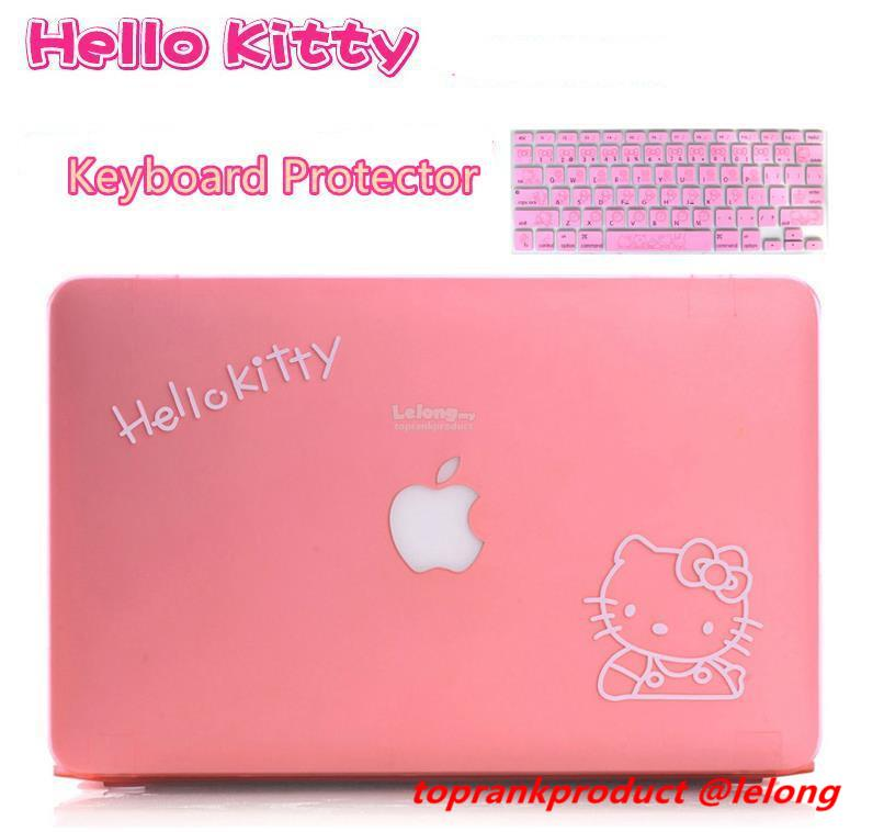 hot sale online 66453 37899 Hello Kitty MacBook Air Pro Case Cover Casing + Keyboard Protector