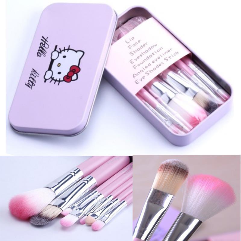 Hello Kitty Makeup Brush 7pc Box Pink