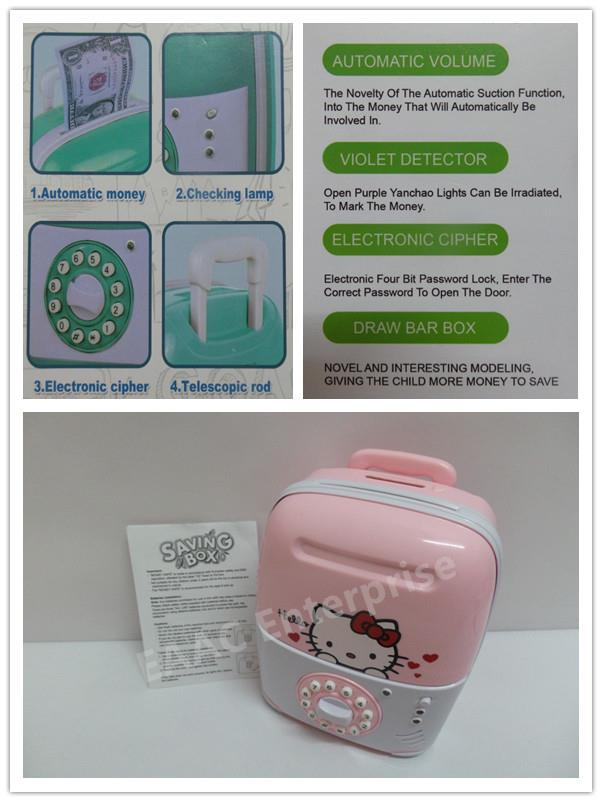 35e40dd2f Hello Kitty Money Saving Coin Bank Safe Deposit Security Box Luggage