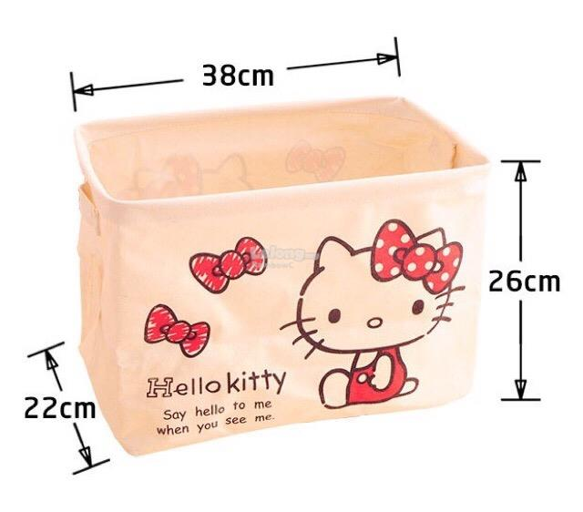 Hello Kitty Pink Foldable Laundry Storage Basket Bag (Design 2)