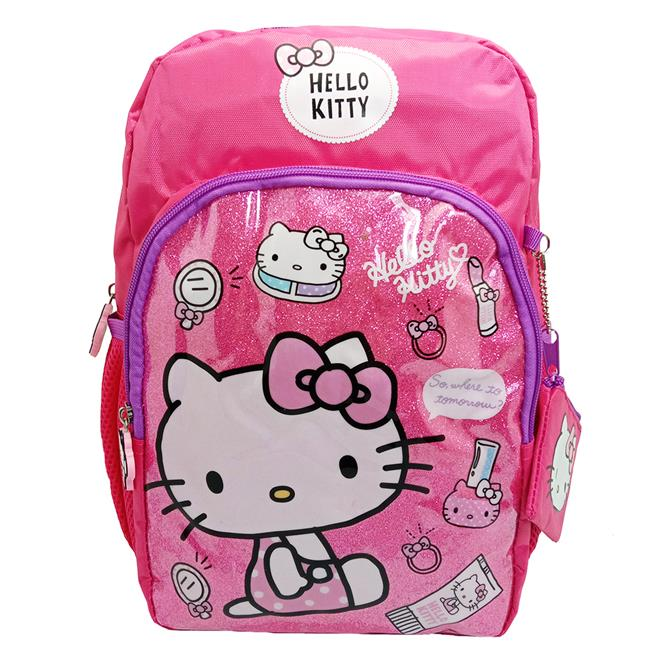 HELLO KITTY SHINNING PINK 12-INCH KIDS BACKPACK