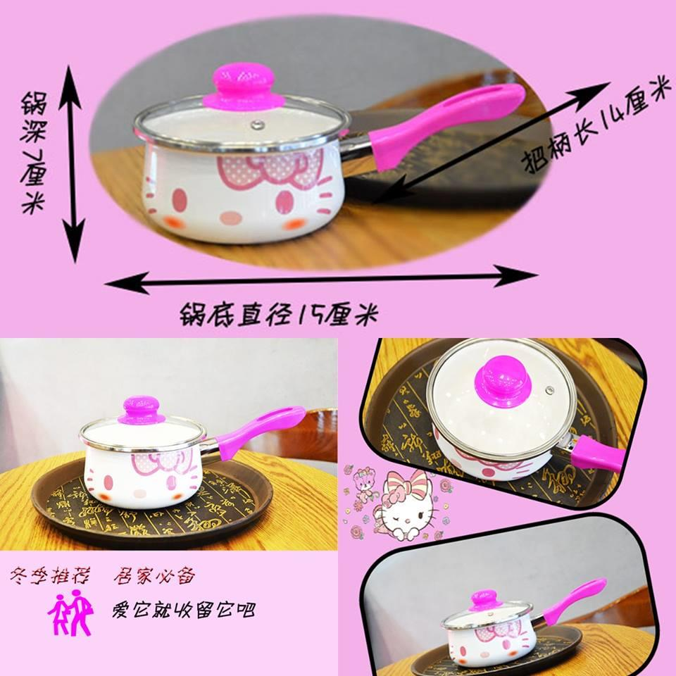 Hello Kitty Single Handle Pot (Pink)