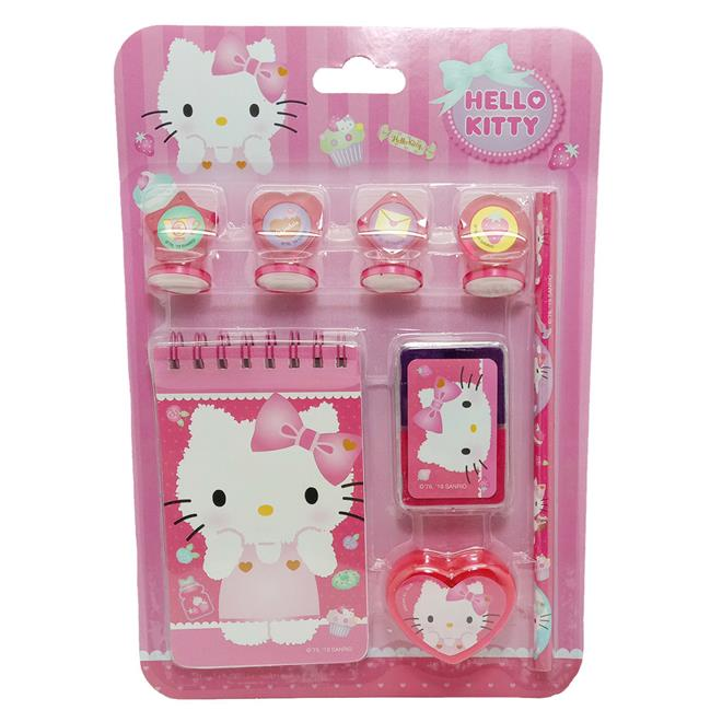HELLO KITTY STAMPER WITH STATIONERY SET