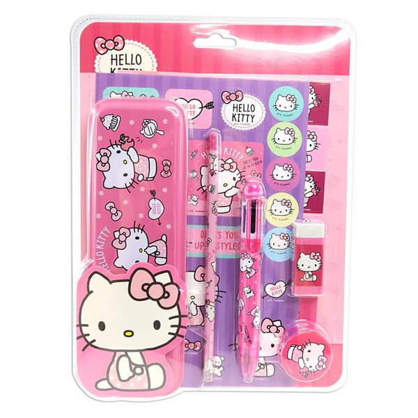 HELLO KITTY STICKER WITH STATIONERY SET