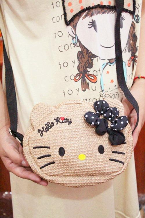 Hello Kitty Straw Bag 2015 ~round sling bag