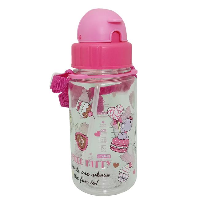HELLO KITTY TEA TIME 350ML TRITAN BOTTLE WITH STRAW * BPA FREE
