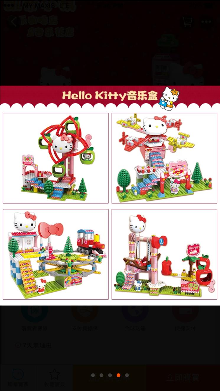 Hello Kitty Train Set with music and movable