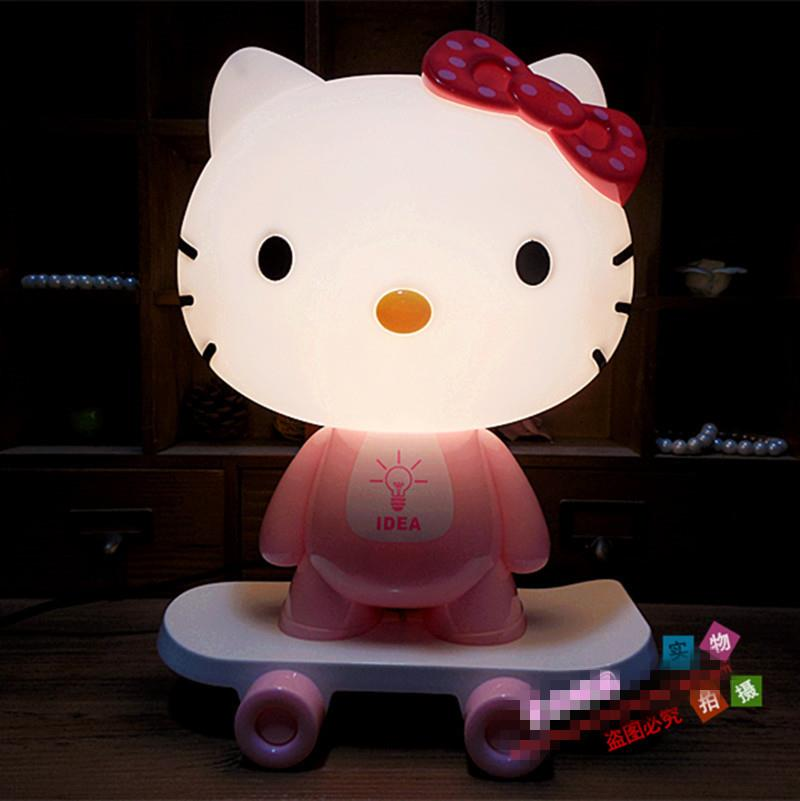 Hello KT With Skateboard Night Lamp