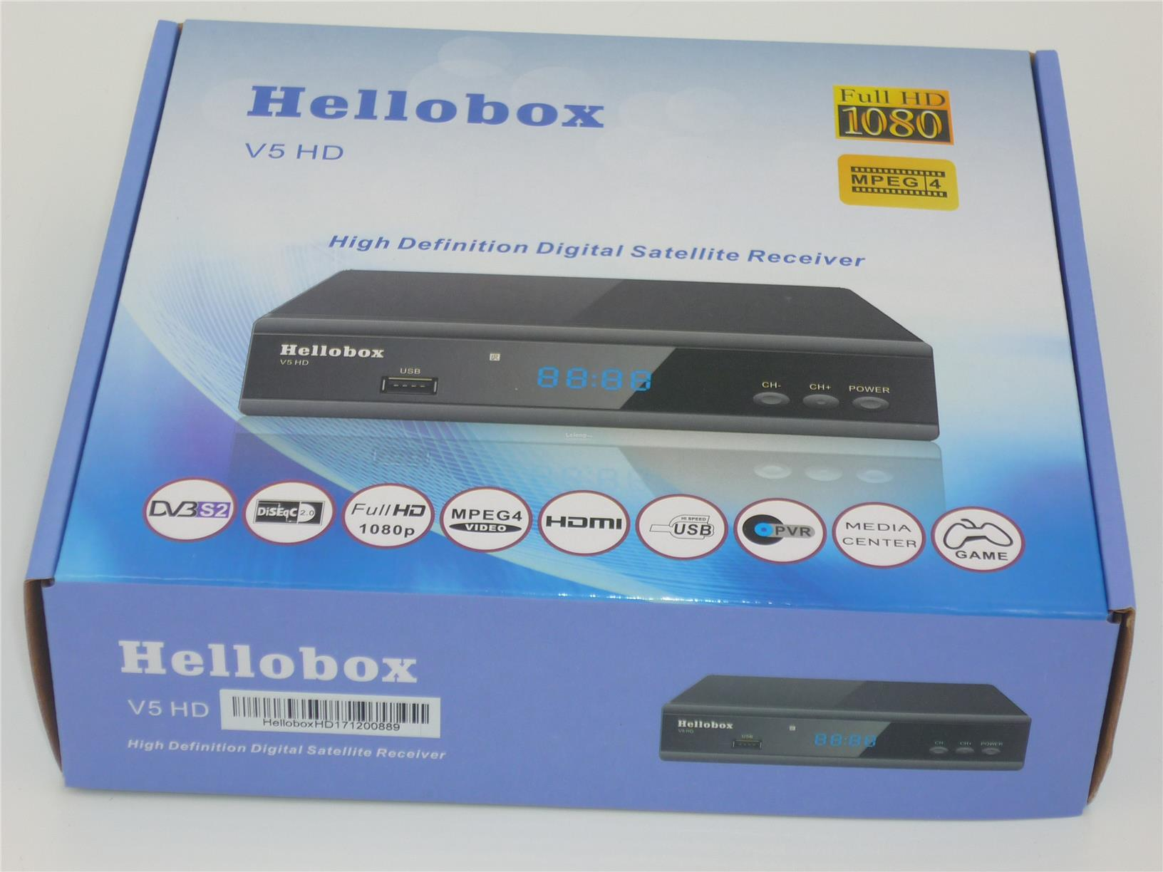 Hellobox V5 HD Digital Satellite Receiver IPM BISSKEY auto detect