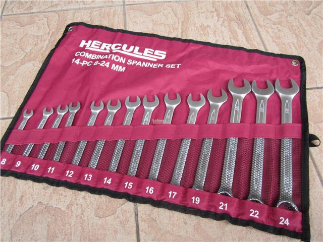 Hercules 14pcs 8-24mm Metric Combination Spanner Set