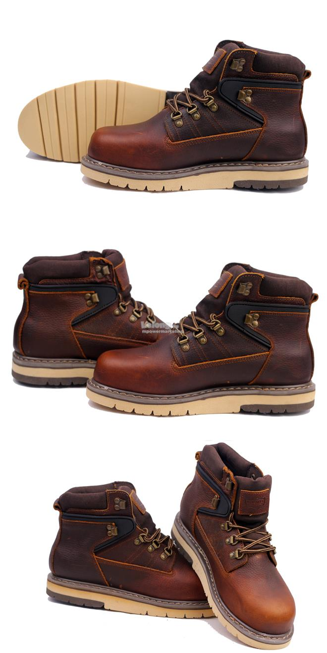 Hercules Half Cut Safety Shoes First Grade Cow Leather Boot Dunkery