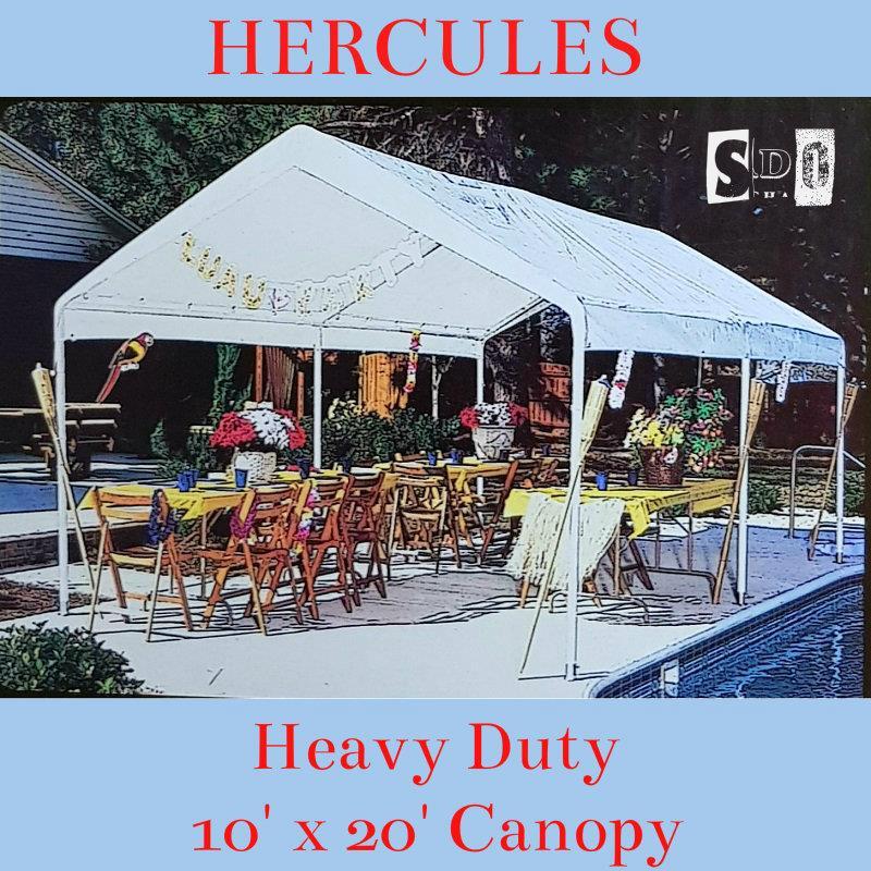 Hercules Heavy Duty Canopy (10u0027 x 20u0027) & Hercules Heavy Duty Canopy (10u0027 x 20u0027 (end 9/5/2018 6:44 AM)
