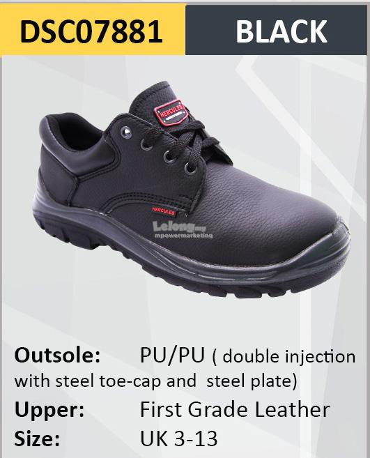 Hercules Safety Shoes Cow Leather Working Shoes Sizes13-3 SKU-7881