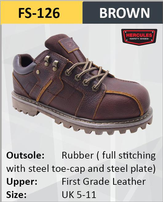 Hercules Safety Shoes First Grade Cow Leather Steel Shoes Boot FS126. ‹ › 9a195bfe56