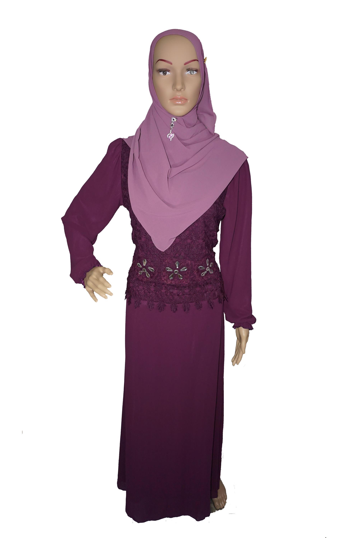 Hermosa Muslimah Chiffon Bercorak Bunga Jubah Moden 071PE41 001 ‹ ›