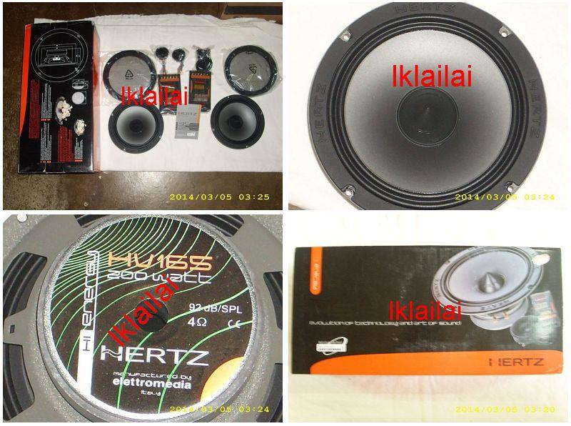 Hertz 6.5'' Component Speaker Set Italy Made [HSK165]