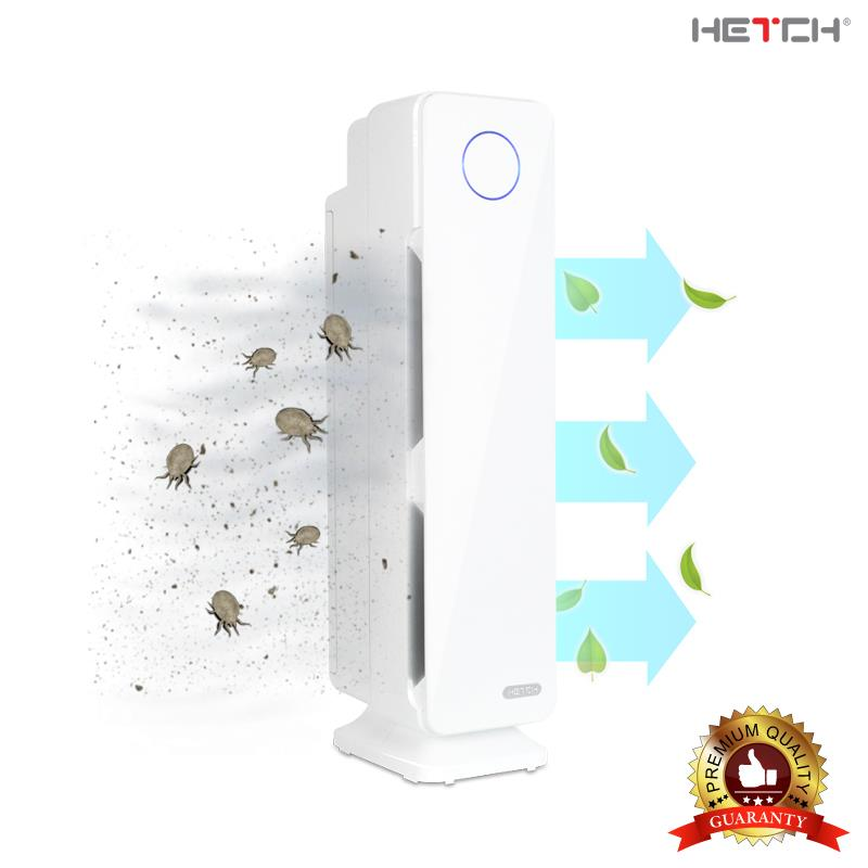 HETCH Air Purifying System with UV-C, Ionization, True HEPA & Odor Red