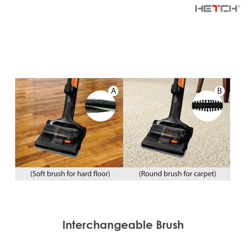 HETCH Cordless + Dual Battery Vacuum Cleaner Rechargeable Lithium-ion