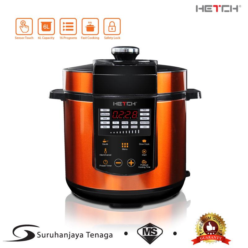 HETCH Smart Pressure Cooker 1000W 6L (FREE Extra SS 304 Inner Pot)