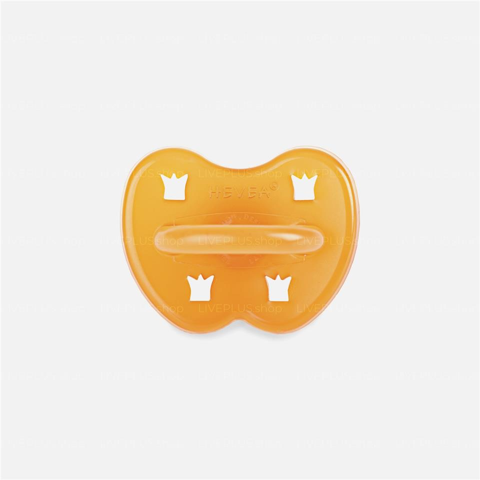 Hevea Crown Round Natural Rubber Pacifier, 0-3 Months — Baby Soother