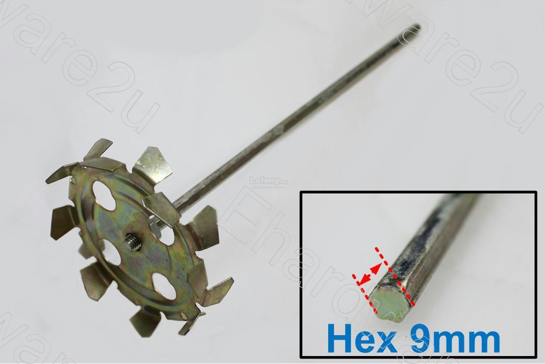 HEX SHANK 9MM PAINT MIXER PADDLE 420MM (59571B)