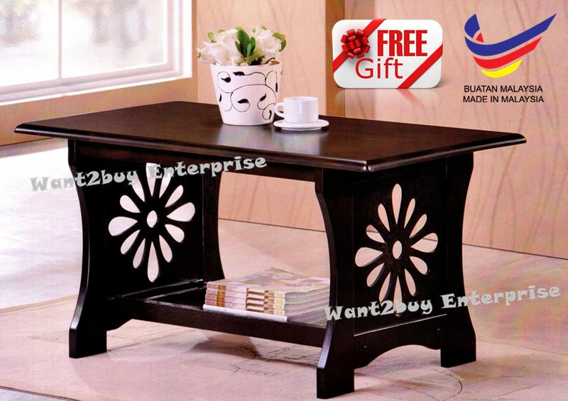 Hf 054 Solid Wood Kayu Getah Kopi Coffee Table Made In Malaysia