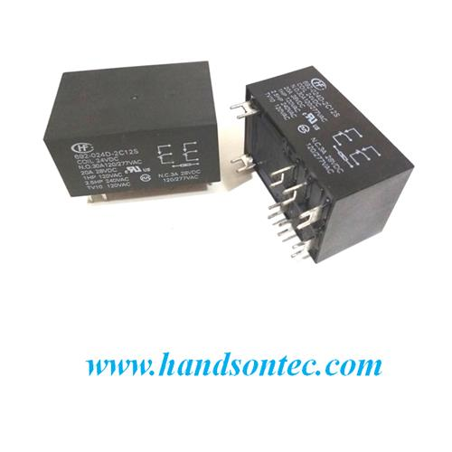 HF92F High Power Relay 30A 277VAC DPDT