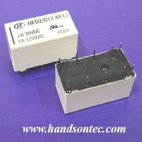 HFD2 Series Sensitive 2A DPDT Latching Relay