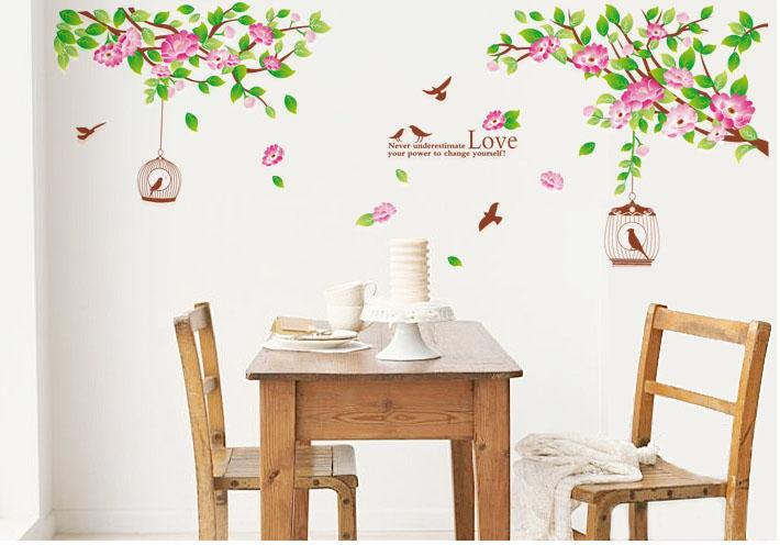 Hibiscus Blooms Removable Wall Sticker W6007