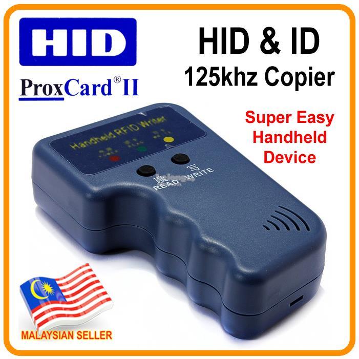HID Proximity ProxCard II card copier + ID 125khz RFID copy duplicator