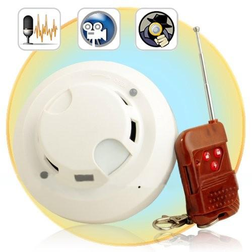 Hidden Camera Smoke Detector With Built-In Memory (DVR-41A).