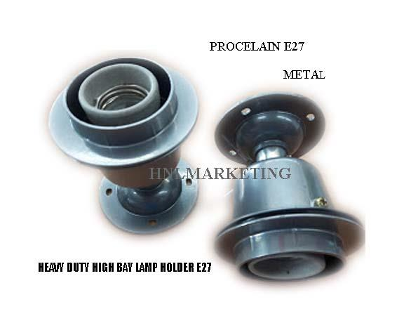 HIGH BAY HEAVY DUTY METAL ES LAMP HOLDER E27