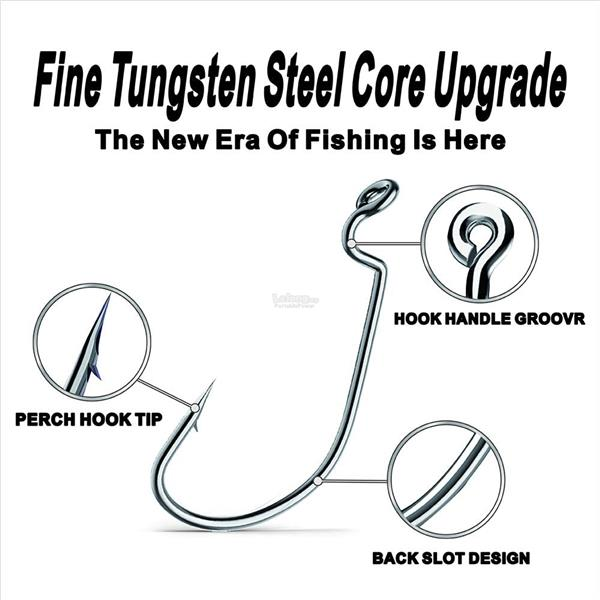 High Carbon Steel Fishing Hook, J-Pike Jigging Hook