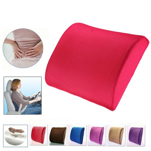 Lovely High Density Memory Foam Seat Chair Lumbar Back Support Pillow