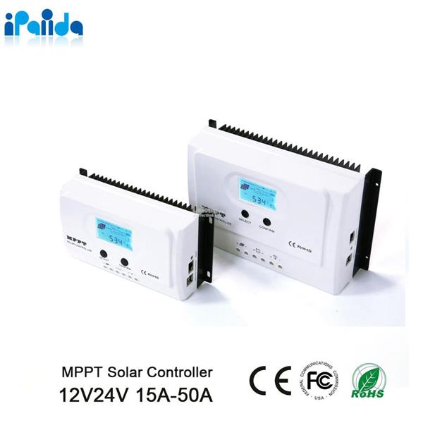 High Efficiency 30A MPPT Solar Charge Controller 12v 24v Auto