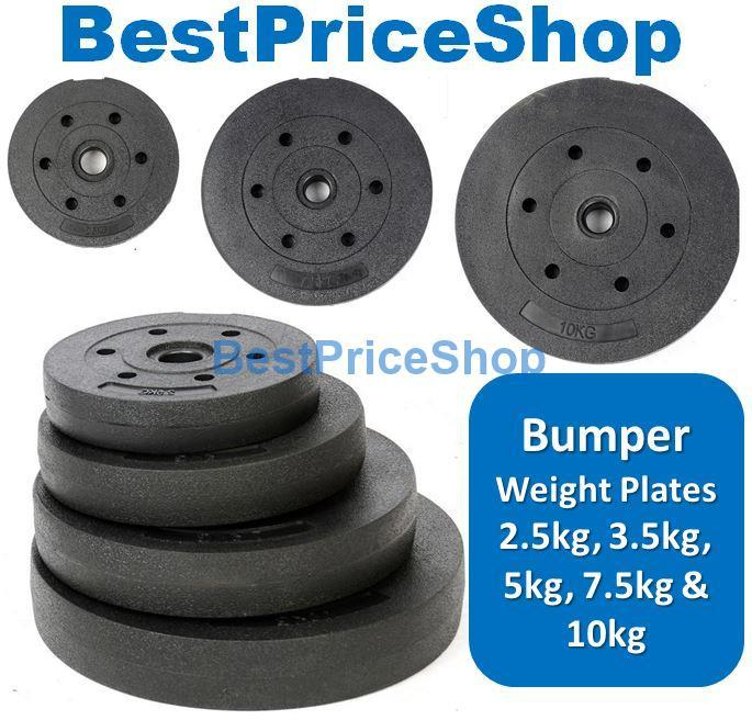 High Grade Bumper Dumbbell Weight Plate Barbell Plates 2.5kg to 15kg