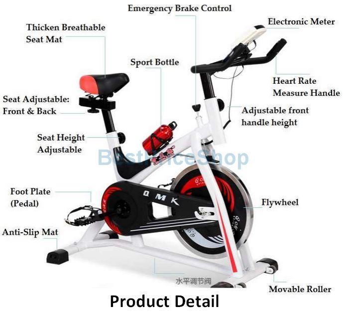 Exercise Bike Tall Person: High Grade Iron Spinning Bicycle Slim Cycling Exercise