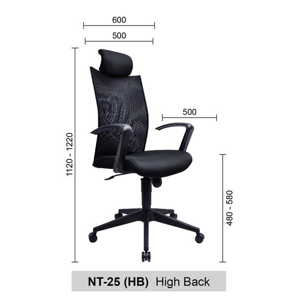 High Back Mesh Home & Office Chair - NT-25 (HB) High Back