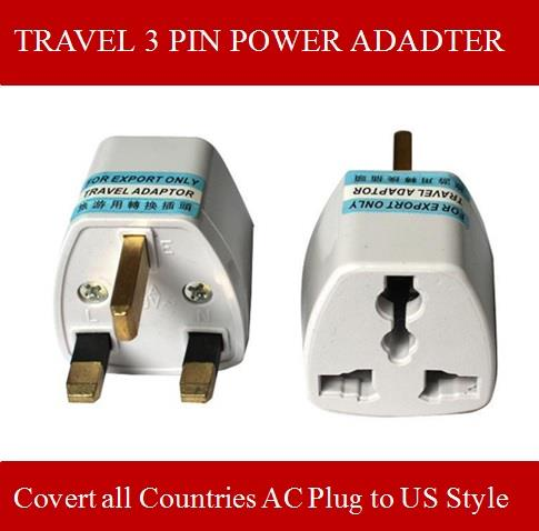 High Performance Universal 3Pin Adapter Power Adapter Convert