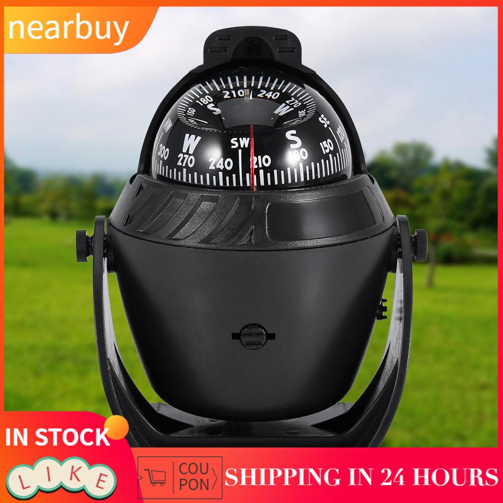 High Precision LED Light Pivoting Marine Compass For Marine Boat Car A