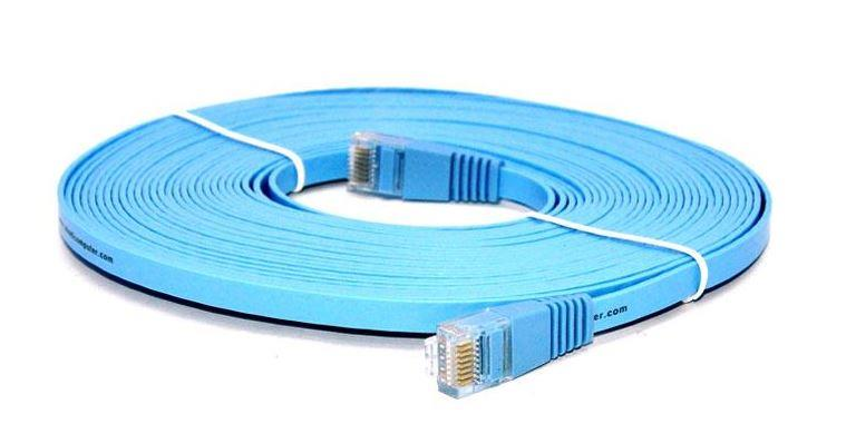 HIGH QAULITY COLOR RJ45 UTP CAT6 FLAT CABLE, 5M