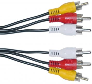 HIGH QUALITY 3 RCA (M) TO 3RCA (M) CABLE 3M