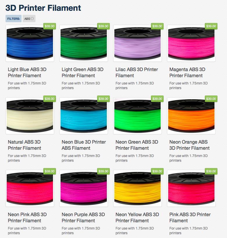 High Quality 3D Printer Filament ABS/ (end 7/5/2019 3:15 PM