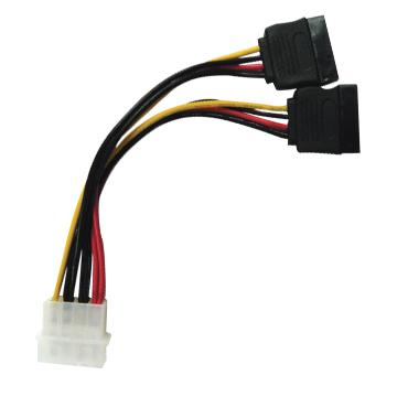 HIGH QUALITY 4 PIN MOLEX TO SATA POWER Y SPLITTER CABLE (US02601)