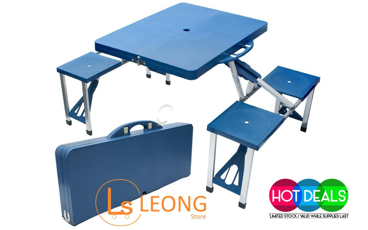 High Quality Abs Folding Table Set Portable Outdoor Camping Learning