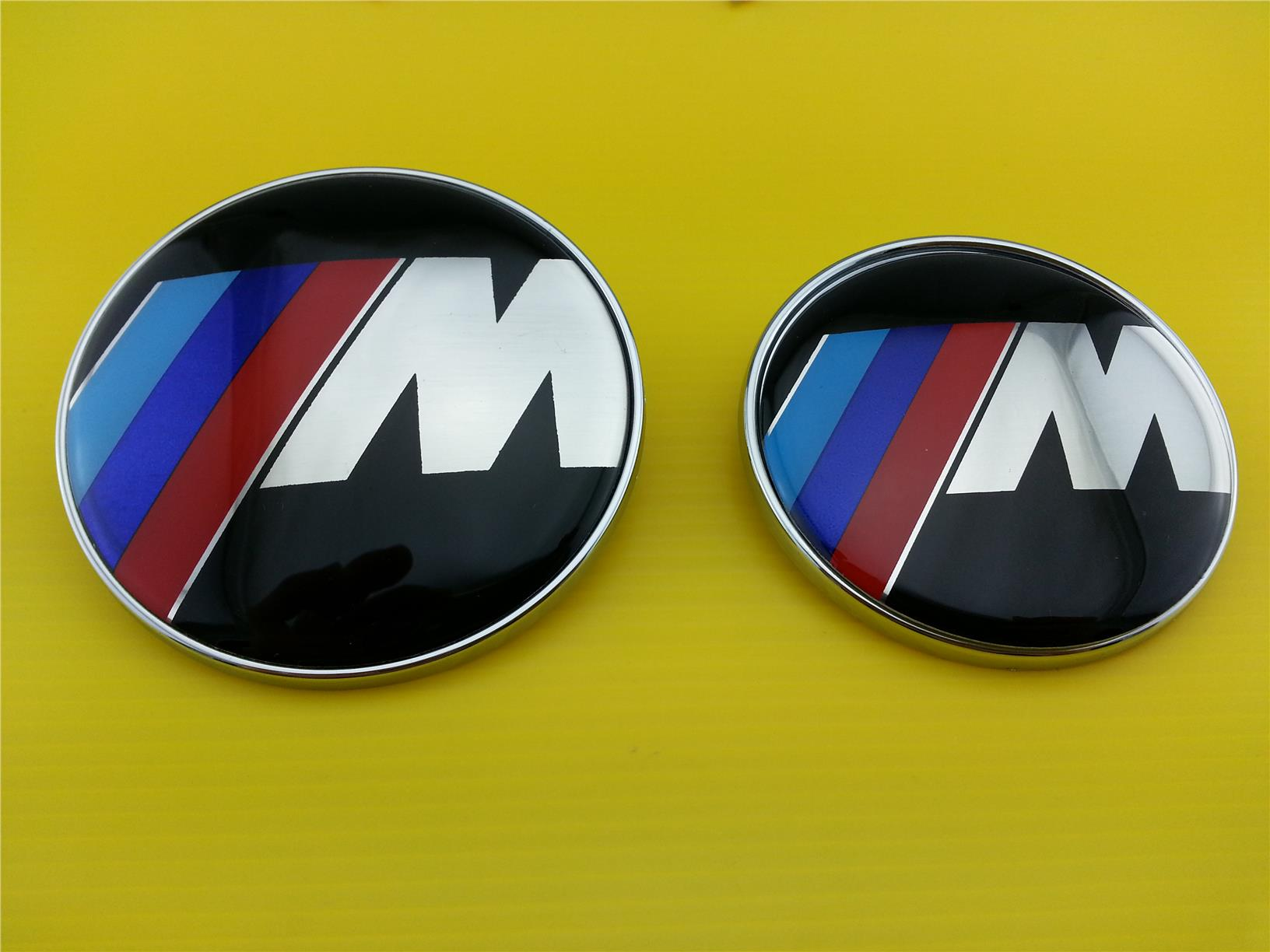High quality bmw m sport logo front o end 452016 939 pm high quality bmw m sport logo front or rear size 73mm 82mm 2 pins buycottarizona Gallery