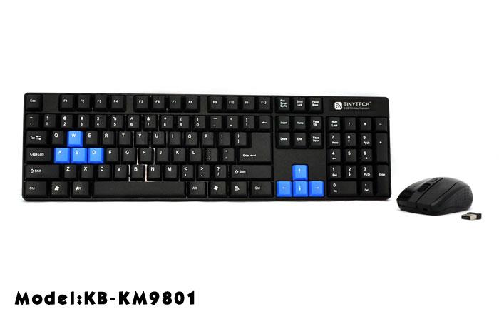 HIGH QUALITY COMBO 2.4GHZ WIRELESS KEYBOARD + MOUSE SET (KM9801)