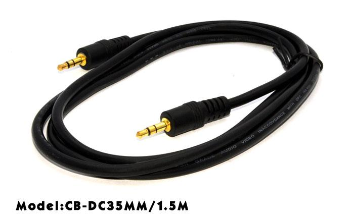 HIGH QUALITY DC3.5MM AUDIO MALE TO MALE CABLE 1.5METER (GOLD PLATED)